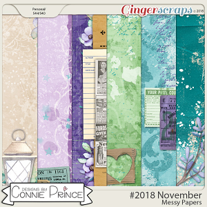 #2018 November - Messy Papers by Connie Prince