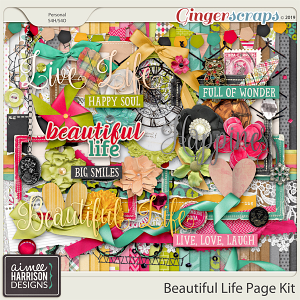 Beautiful Life Page Kit by Aimee Harrison