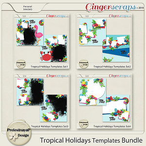 Tropical Holidays Templates Bundle