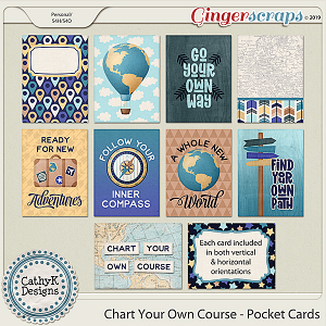 Chart Your Own Course - Pocket Cards by CathyK Designs