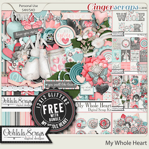 My Whole Heart Digital Scrapbook Bundle