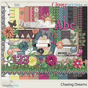 Chasing Dreams Digital Scrapbook Kit by Dandelion Dust Designs