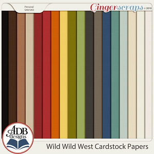 Wild Wild West Solid Papers by ADB Designs