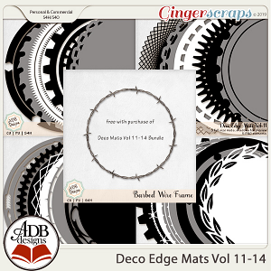 Deco Mats Bundle 03 - Vol 11-14 by ADB Designs