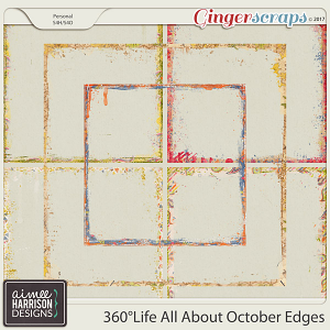 360°Life All About October Messy Edges by Aimee Harrison