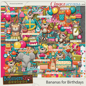 Bananas for Birthdays by BoomersGirl Designs