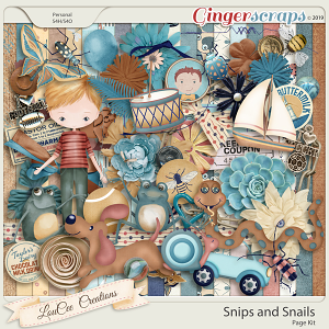 Snips and Snails Page Kit by LouCee Creations