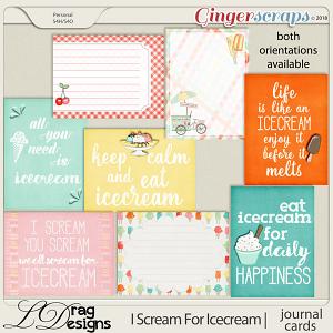 I Scream For Icecream: Journal Cards by LDrag Designs