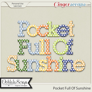 Pocket Full Of Sunshine Alphabets