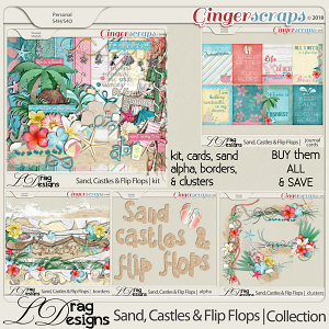 Sand, Castles & Flip Flops: The Collection by LDragDesigns