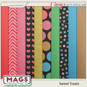 Sweet Treats FOIL PAPERS by MagsGraphics