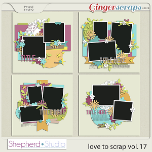 Love to Scrap Volume 17 Templates by Shepherd Studio