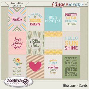 Blossom - Cards by Aprilisa Designs