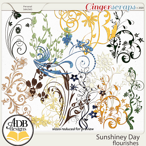 Sunshiney Day Flourishes by ADB Designs