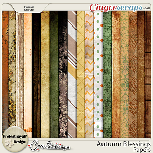 Autumn blessings Pack of papers by PrelestnayaP Design and CarolW Designs