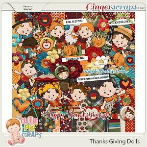 Thanksgiving Dolls Page Kit
