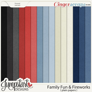 Family Fun & Fireworks {Plain Papers} by Jumpstart Designs