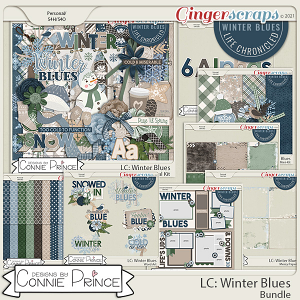 Life Chronicled: Winter Blues - Bundle by Connie Prince