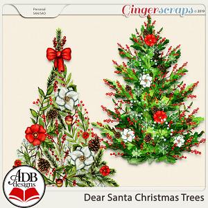 Dear Santa Christmas Trees by ADB Designs