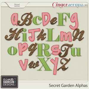 Secret Garden Alpha Sets by Aimee Harrison