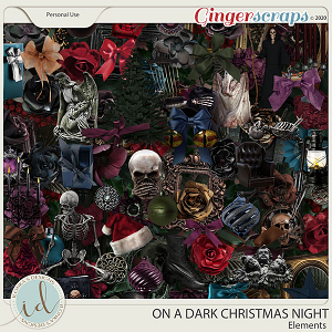 On A Dark Christmas Night Elements by Ilonka's Designs
