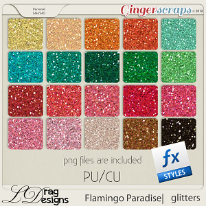 Flamingo Paradise: Glitterstyles by LDragDesigns