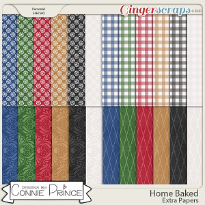 Home Baked - Extra Papers by Connie Prince