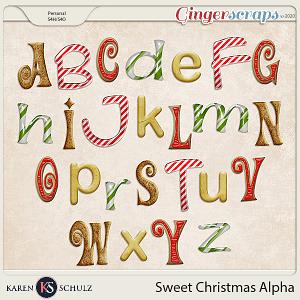 Sweet Christmas Alpha by Karen Schulz and Linda Cumberland Designs