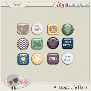 A Happy Life Flairs by Luv Ewe Designs