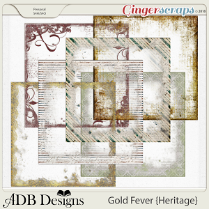 Gold Fever Heritage Page Borders by ADB Designs