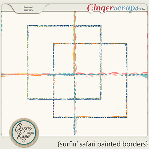 Surfin' Safari Painted Borders by Chere Kaye Designs