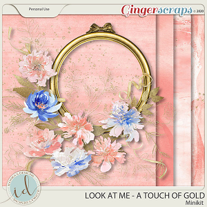 Look at Me A Touch Of Gold Minikit by Ilonka's Designs
