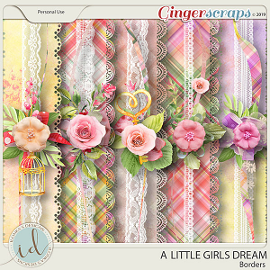 A Little Girls Dream Borders by Ilonka's Designs
