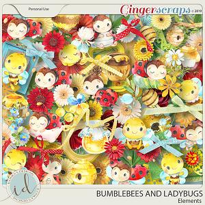 Bumblebees And Ladybugs Full Kit Elements