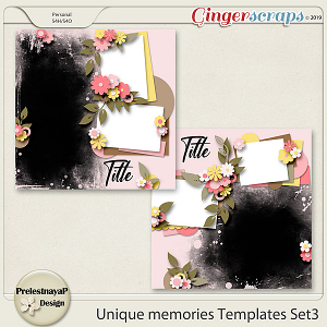 Unique memories Templates Set3