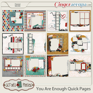You Are Enough Quick Pages - Scraps N Pieces