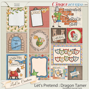 Let's Pretend : Dragon Tamer Journal Cards