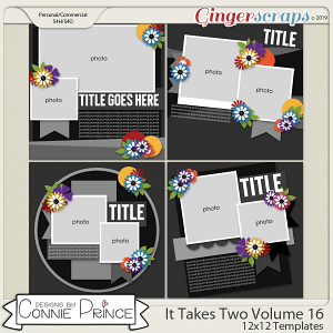 It Takes Two Volume 16 - 12x12 Temps (CU Ok) by Connie Prince