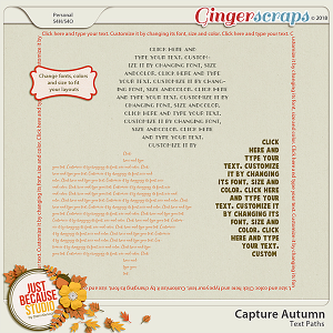 Capture Autumn Text Paths by JB Studio