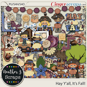 Hay Y'all, It's Fall ELEMENTS by Heather Z Scraps