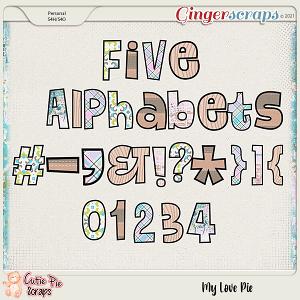 My Love Pie Alphabets