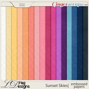 Sunset Skies: Embossed Papers by LDragDesigns