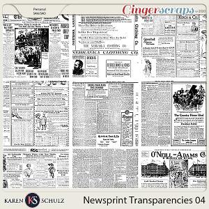 Newsprint Transparencies 04 by Karen Schulz