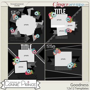 Goodness - 12x12 Templates (CU Ok) by Connie Prince