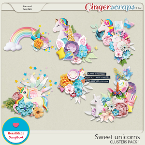 Sweet unicorns - clusters pack 1