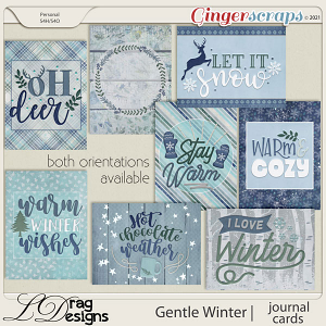 Gentle Winter: Journal Cards by LDragDesigns
