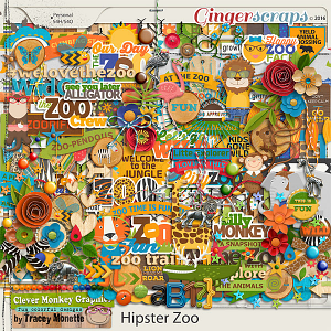 Hipster Zoo Kit by Clever Monkey Graphics