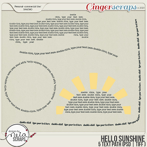 Hello Sunshine - Text Path - by Neia Scraps