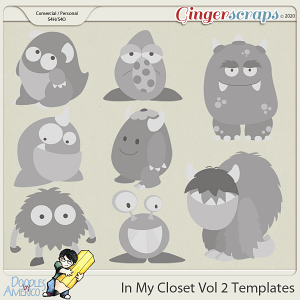 Doodles By Americo: In My Closet Vol 2 Templates