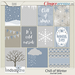 Chill of Winter Journal Cards by Lindsay Jane